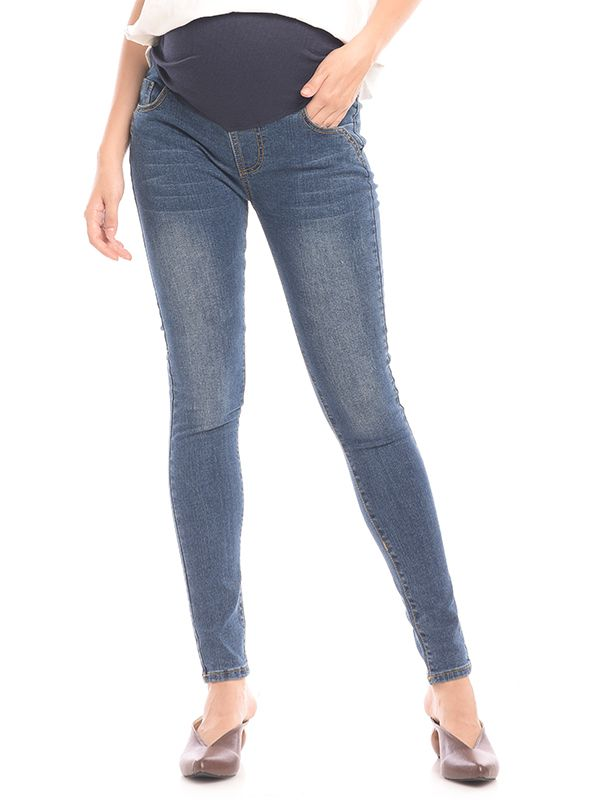 main mobile picture for Skinny Maternity Soft Stretch Jeans Celana Jeans Hamil