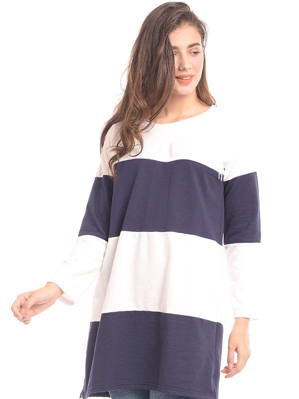 one gallery picture for Maternity Nursing Stripe Long Sleeves Sweatshirt Baju Hamil & Menyusui