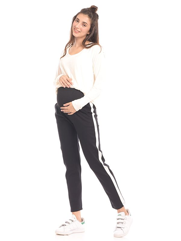 one gallery picture for New Look Maternity Side Stripe Legging Celana Legging Hamil