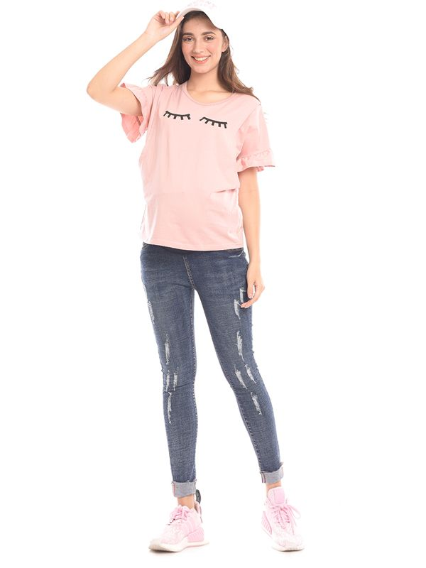one gallery picture for Maternity Ripped Side Jeans Celana Jeans Hamil