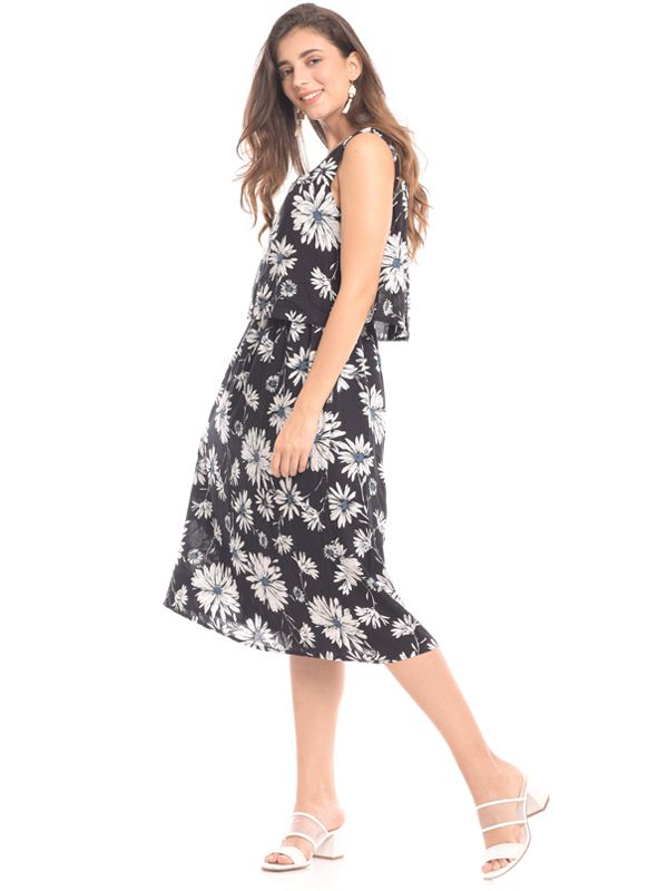 one gallery picture for Floral Print Sleeveless Maternity & Nursing Dress Baju Hamil & Menyusui
