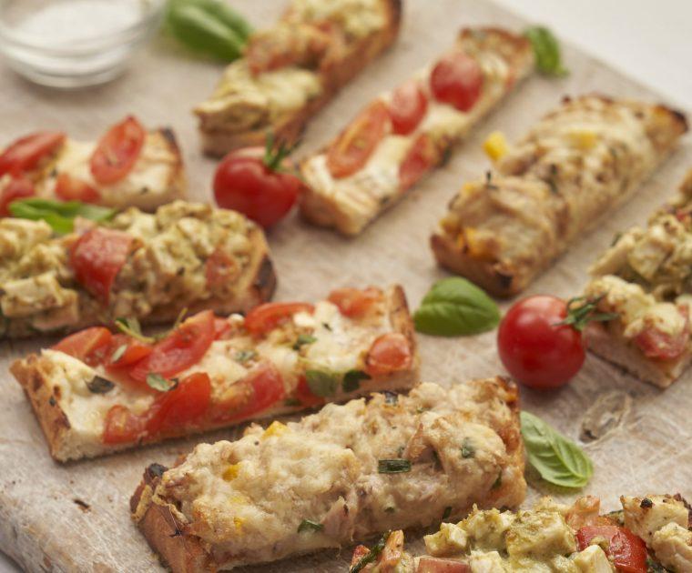 Resep Trio Finger Food: Topping Tuna + Ayam + Keju & Tomat (9 bulan keatas)