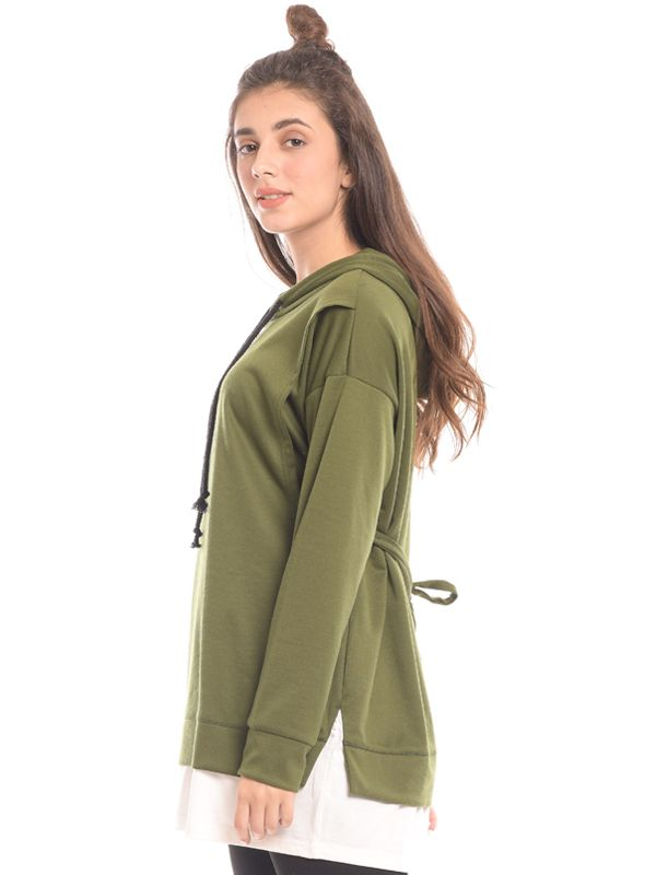 gallery picture of Green Long Sleeves Maternity & Nursing Hoodie Baju Hamil & Menyusui