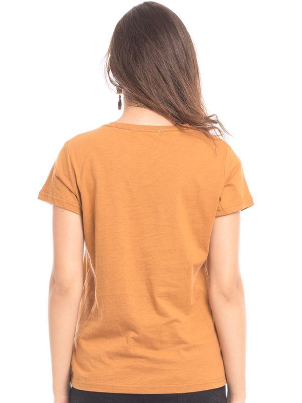 one gallery picture for MOOIMOM Maternity Nursing Short Sleeve Top in V-neck Mustard Baju Hamil & Menyusui
