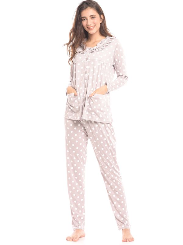 main mobile picture for Maternity Nursing Polkadot Printed Pjama Set Baju Hamil & Menyusui