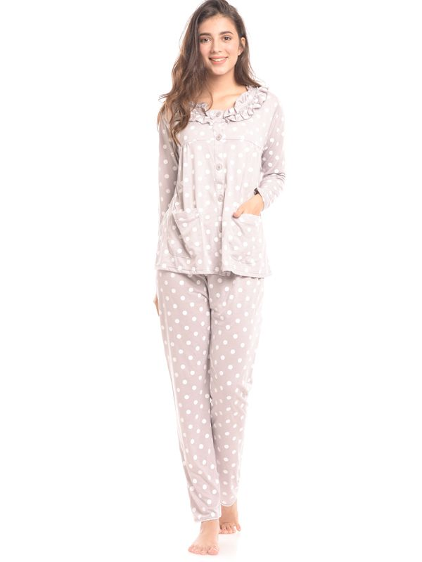one gallery picture for Maternity Nursing Polkadot Printed Pjama Set Baju Hamil & Menyusui