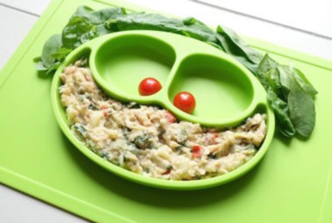 Menu MPASI: Tuna, Potato, Tomato & Spinach Mash (Untuk 6 Bulan Keatas)