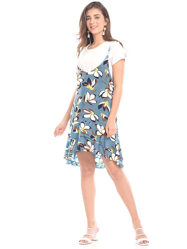 one gallery picture for 2 Piece Summer Floral Nursing Dress Baju Hamil & Menyusui