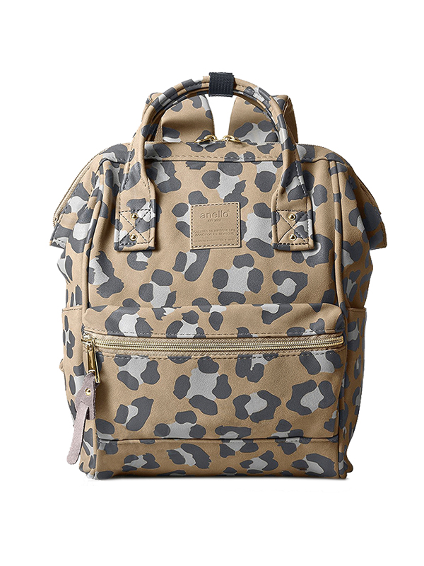 one gallery picture for anello® Leopard Print Cap Mini Backpack