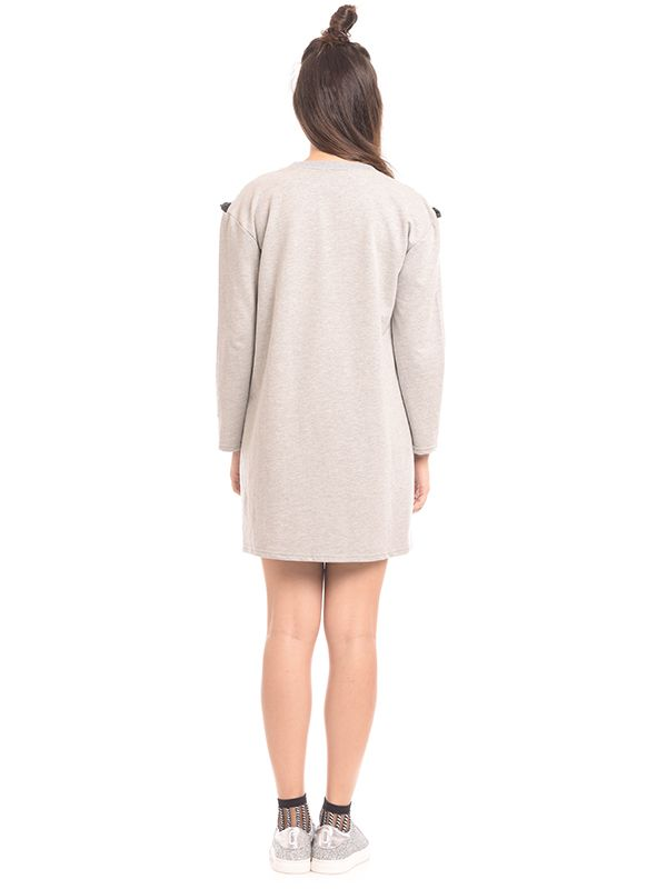 one gallery picture for Maternity Nursing Dress With Grey Ruffle Zip Detail