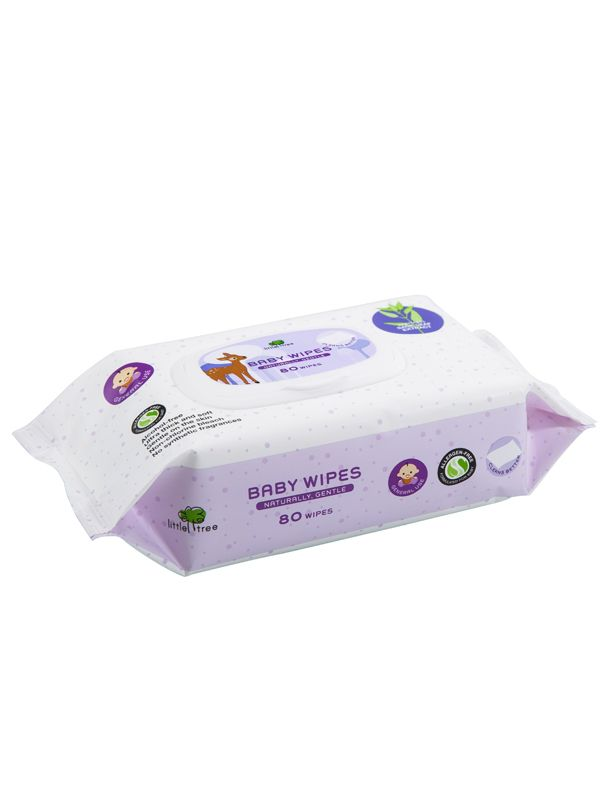 one gallery picture for Little Tree Baby Wipes (General Use) 80 Wipes