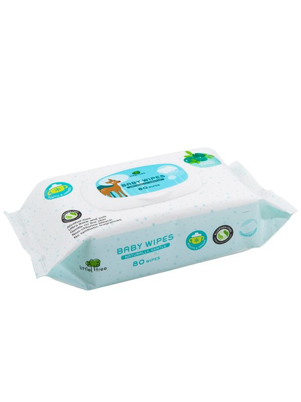 gallery picture of Little Tree Baby Wipes (Hands & Mouth) 80 Wipes