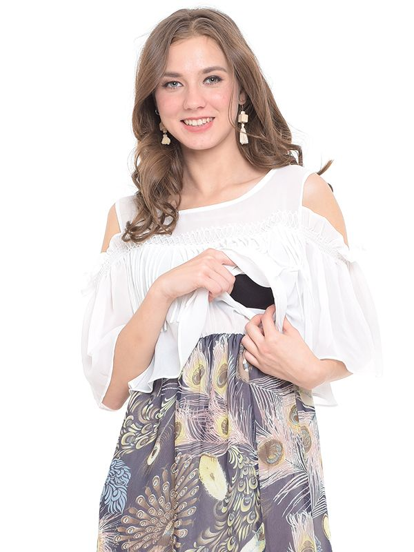 one gallery picture for MOOIMOM Ethnic Maternity & Nursing Dress