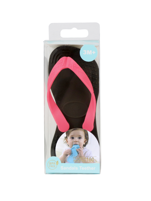 one gallery picture for Jeelly Sandals Teether [Black] - Gigitan Bayi