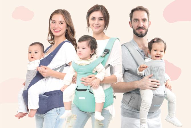 Cara Tepat Menggendong Bayi Sesuai Usia dengan Hipseat Carrier