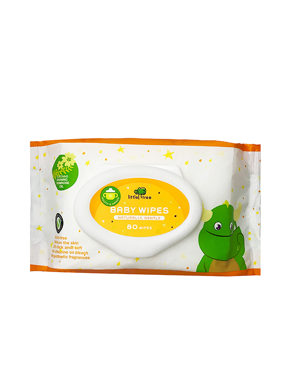one gallery picture for Little Tree Baby Wipes (Hands & Mouth) 80 Wipes