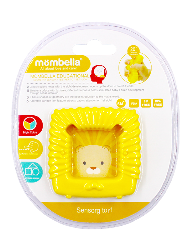 one gallery picture for Mombella Educational Geometry Sensory Teether Toy Set - Lion