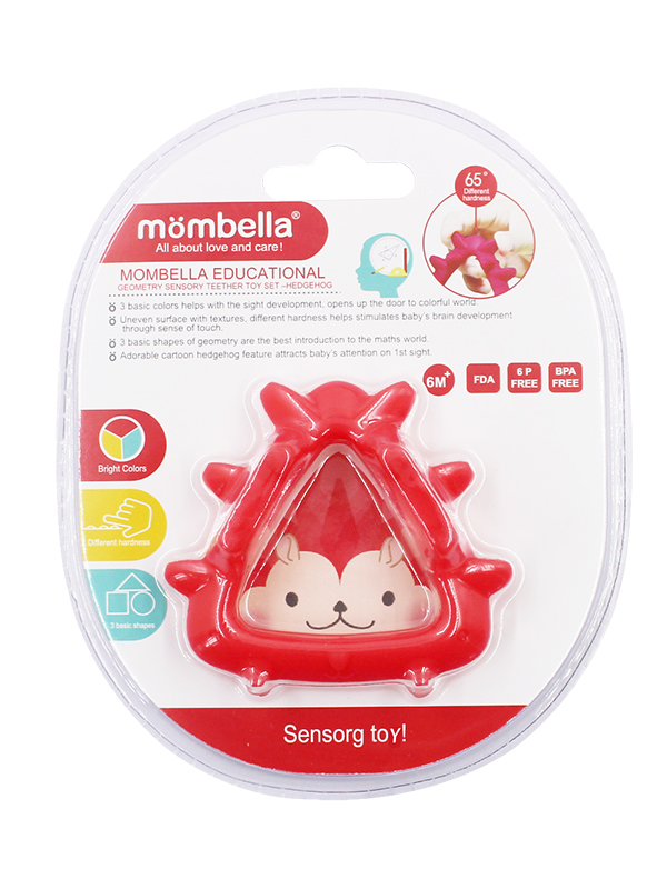 one gallery picture for Mombella Educational Geometry Sensory Teether Toy Set - Hedgehog