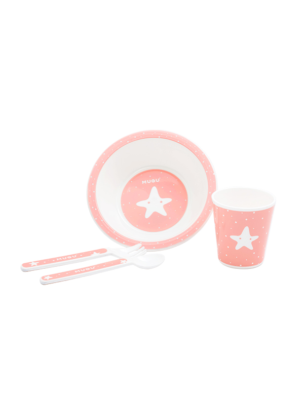 one gallery picture for MUGU® Kids Dinnerware Set (4-Piece)