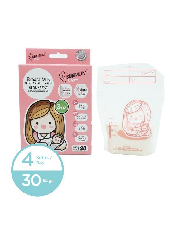 main mobile picture for 4 Bags Sunmum Breastmilk Storage Bags Kantong ASI