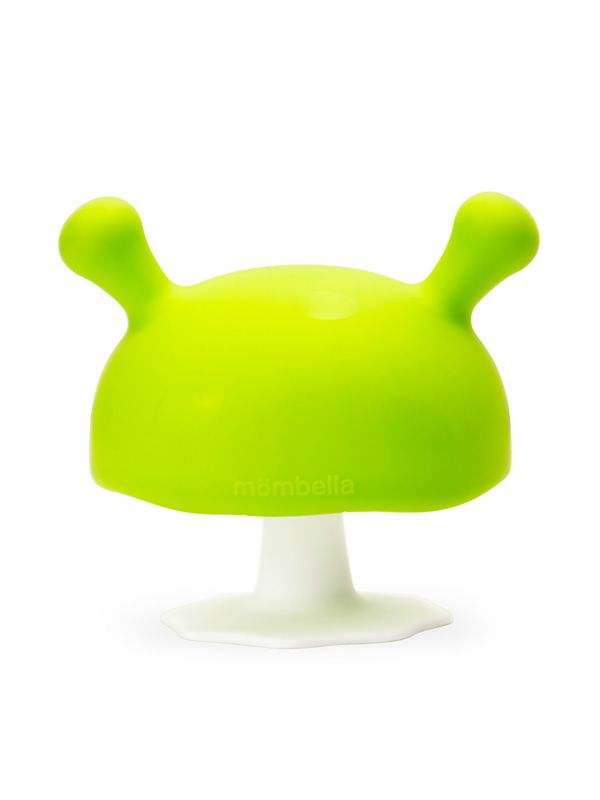 one gallery picture for Mombella Mushroom Soothing Teether Mainan Gigitan Bayi - Green