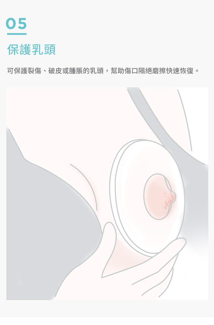 矽膠護乳集乳罩, 哺乳媽咪好幫手, 哺乳時期, 多功能三合一, 集乳, 防溢乳, 保護乳頭, 保護乳頭, 可保護裂傷、破皮或腫脹的乳頭,幫助傷口隔絕摩擦快速恢復。