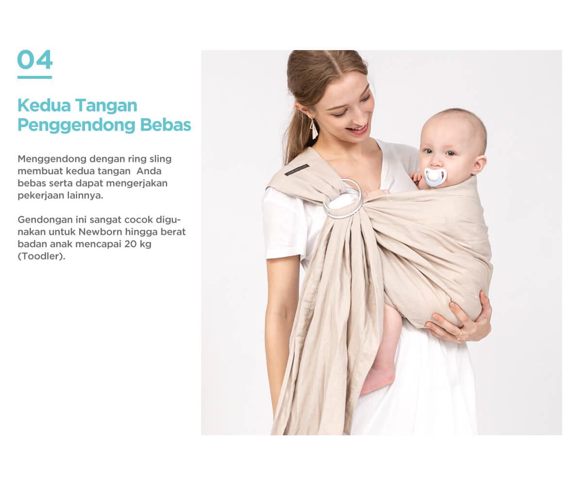 gendongan bayi ring sling menahan beban hingga 20kg