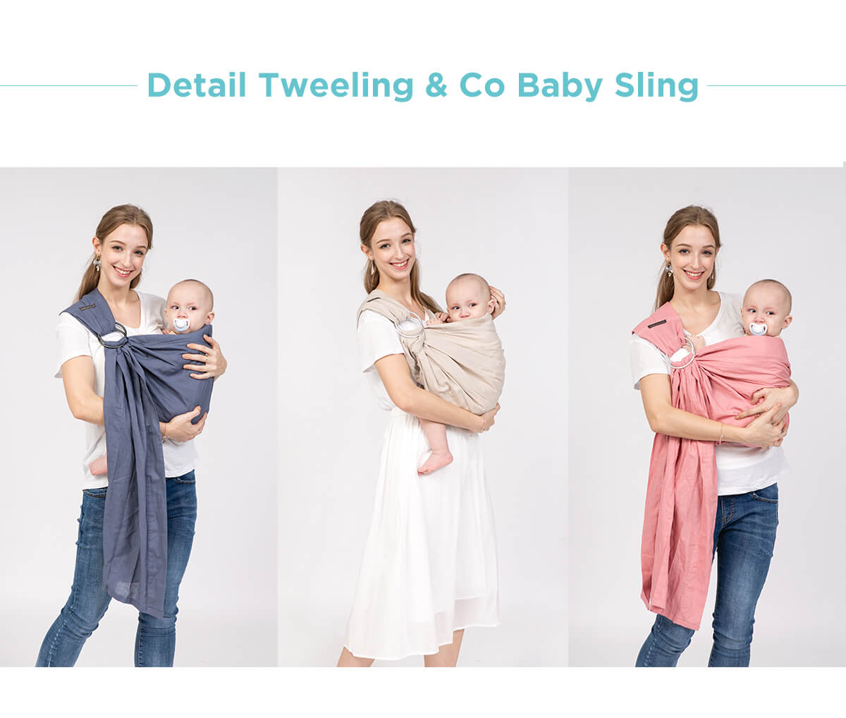 gendongan bayi ring sling warna smoot