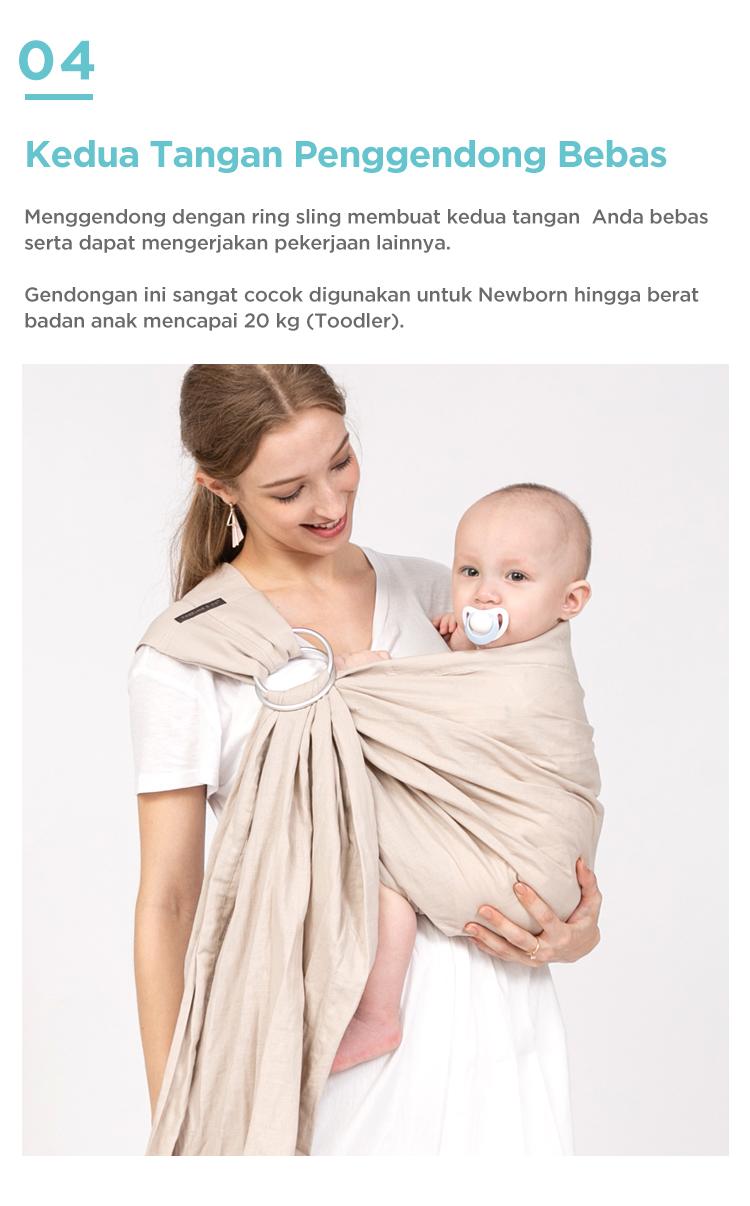 gendongan bayi ring sling tahan beban 20 kg