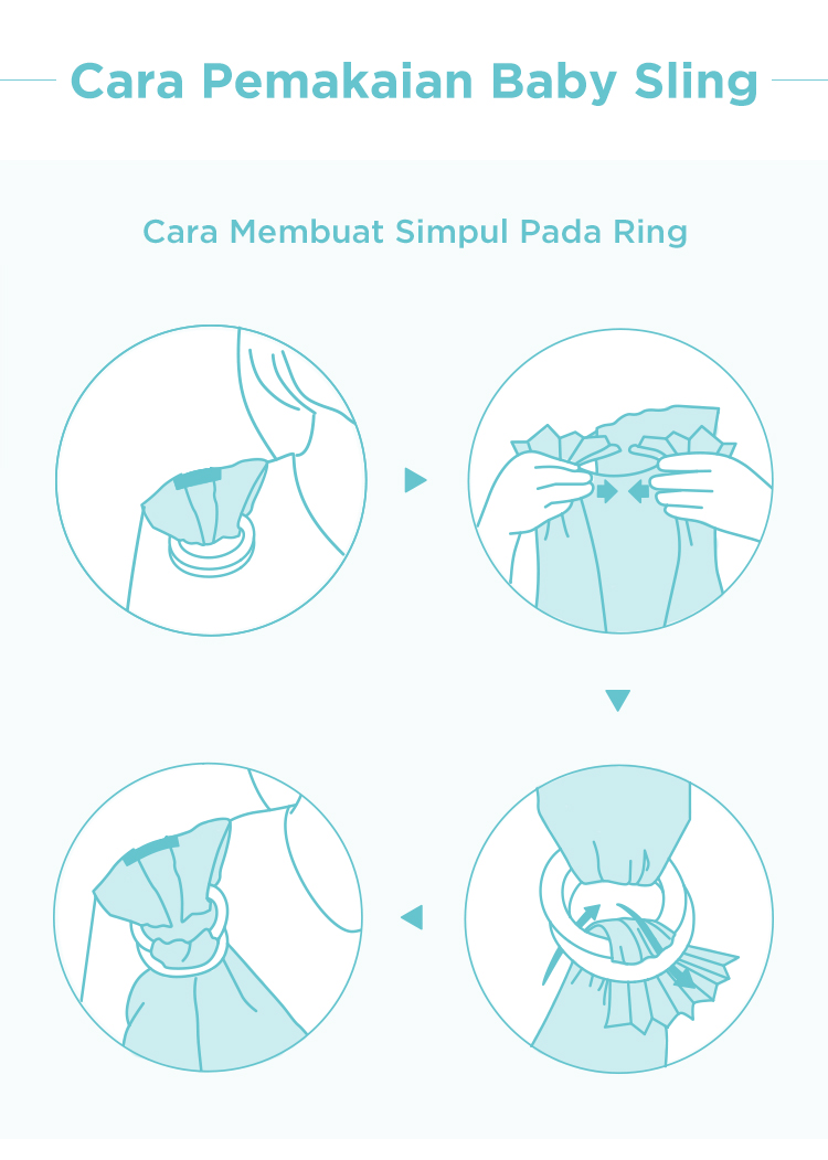 cara pemakaian baby sling gendongan bayi