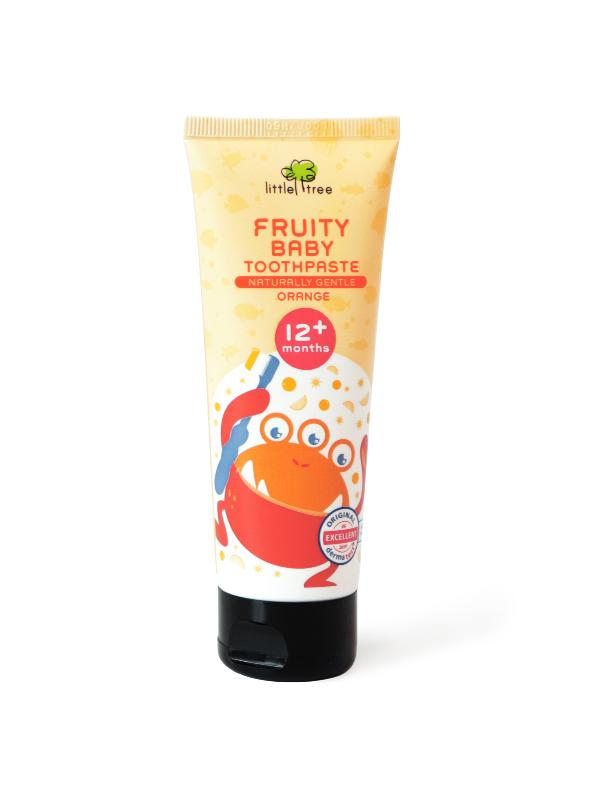 Little Tree Fruity Fresh Toothpaste_12+months 70g(Orange) Pasta Gigi Organik Anak Bayi