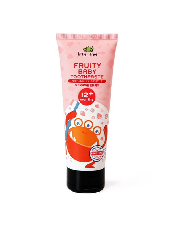 Little Tree Fruity Fresh Toothpaste_12+months 70g(Strawberry) Pasta Gigi Organik Anak Bayi