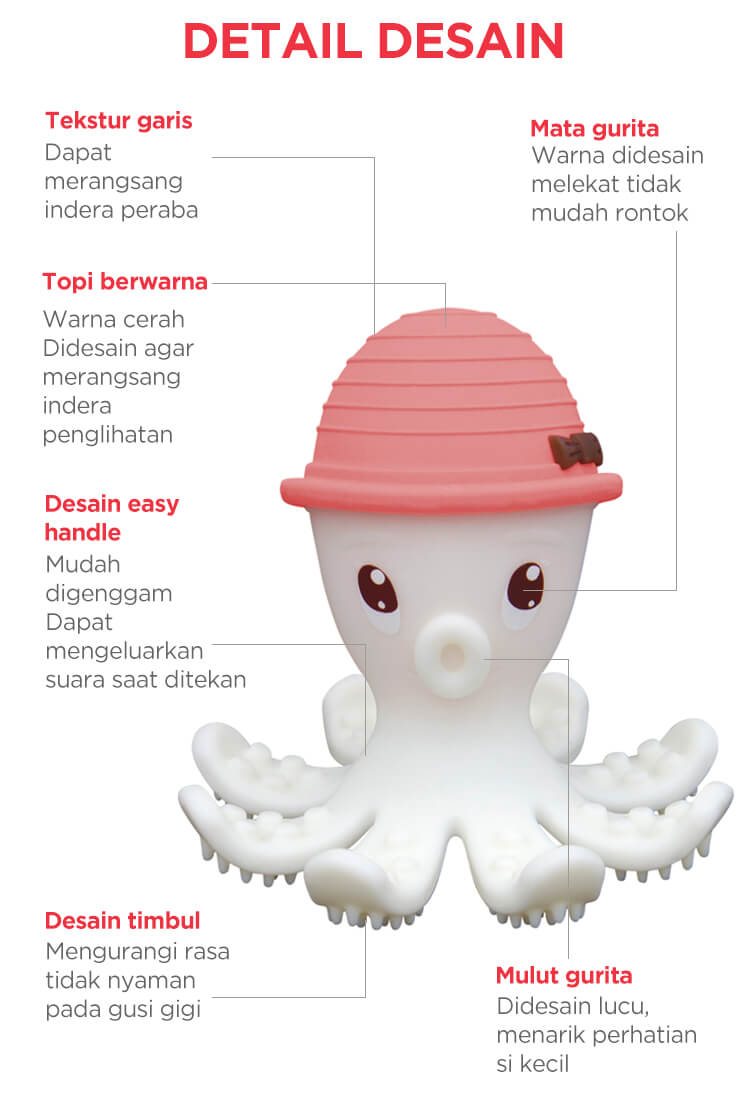 Mombella Octopus Teeter toy mobile
