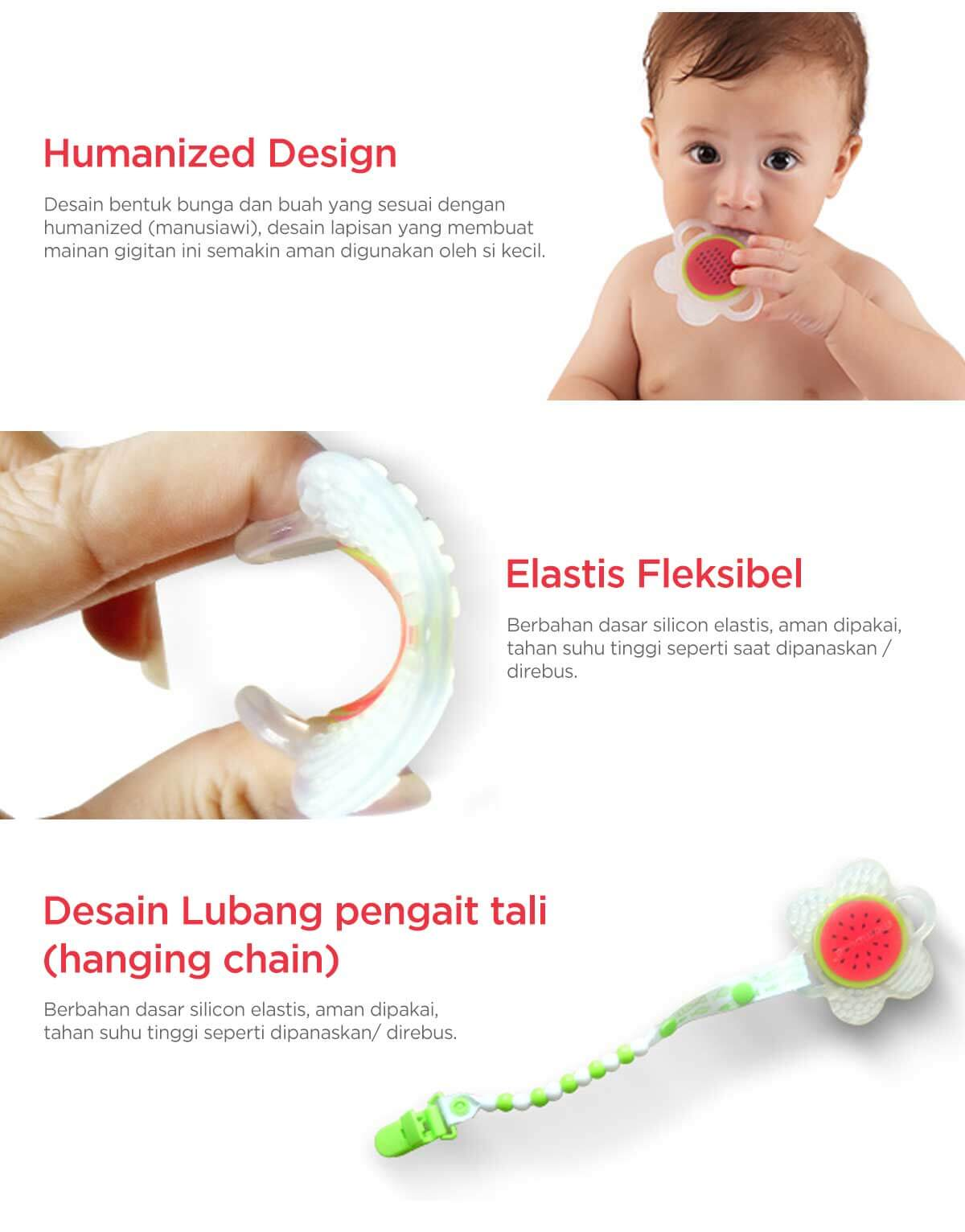 mombella flower fruit teether