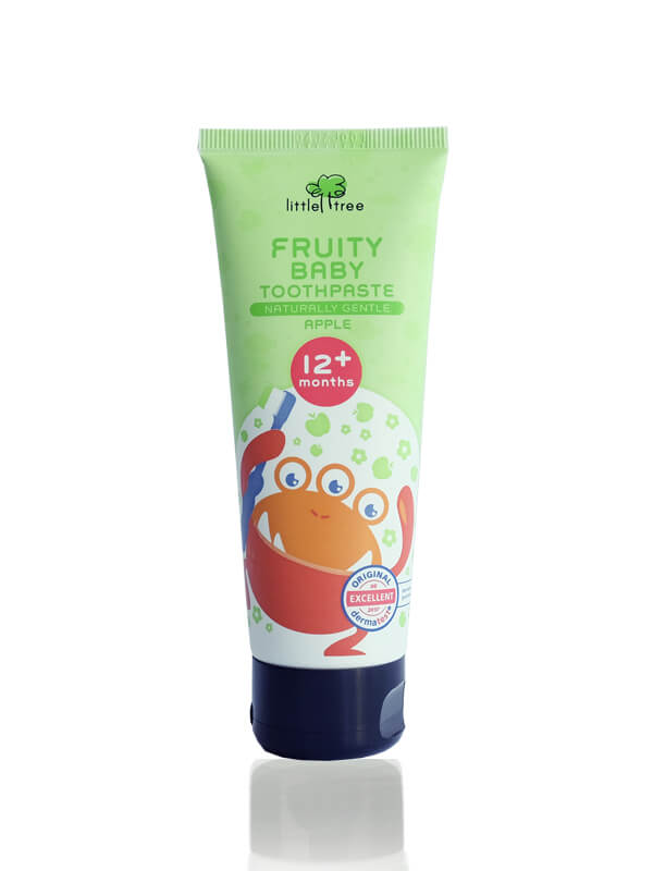 Little Tree Fruity Fresh Toothpaste_12+months 70g(Apple) Pasta Gigi Organik Anak Bayi