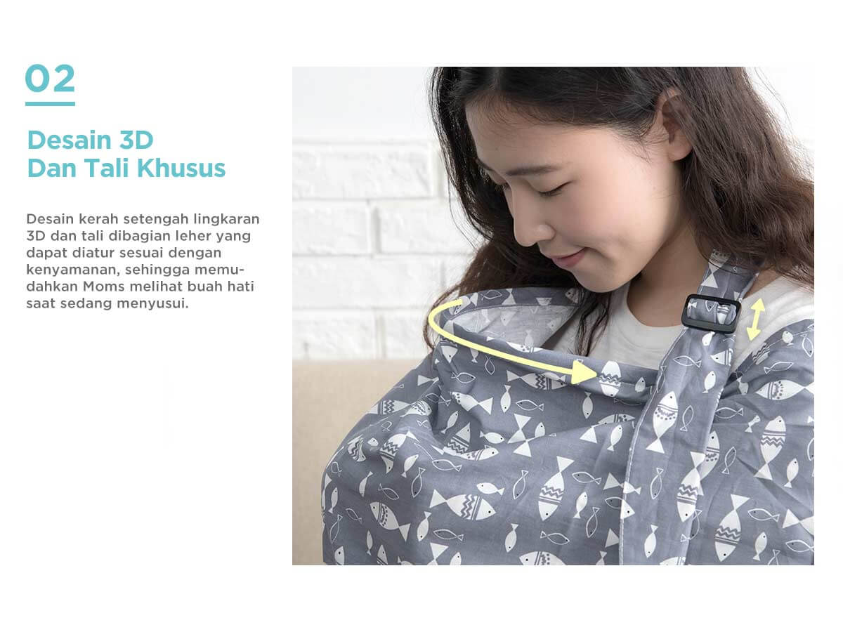 apron menyusui modis desain 3d