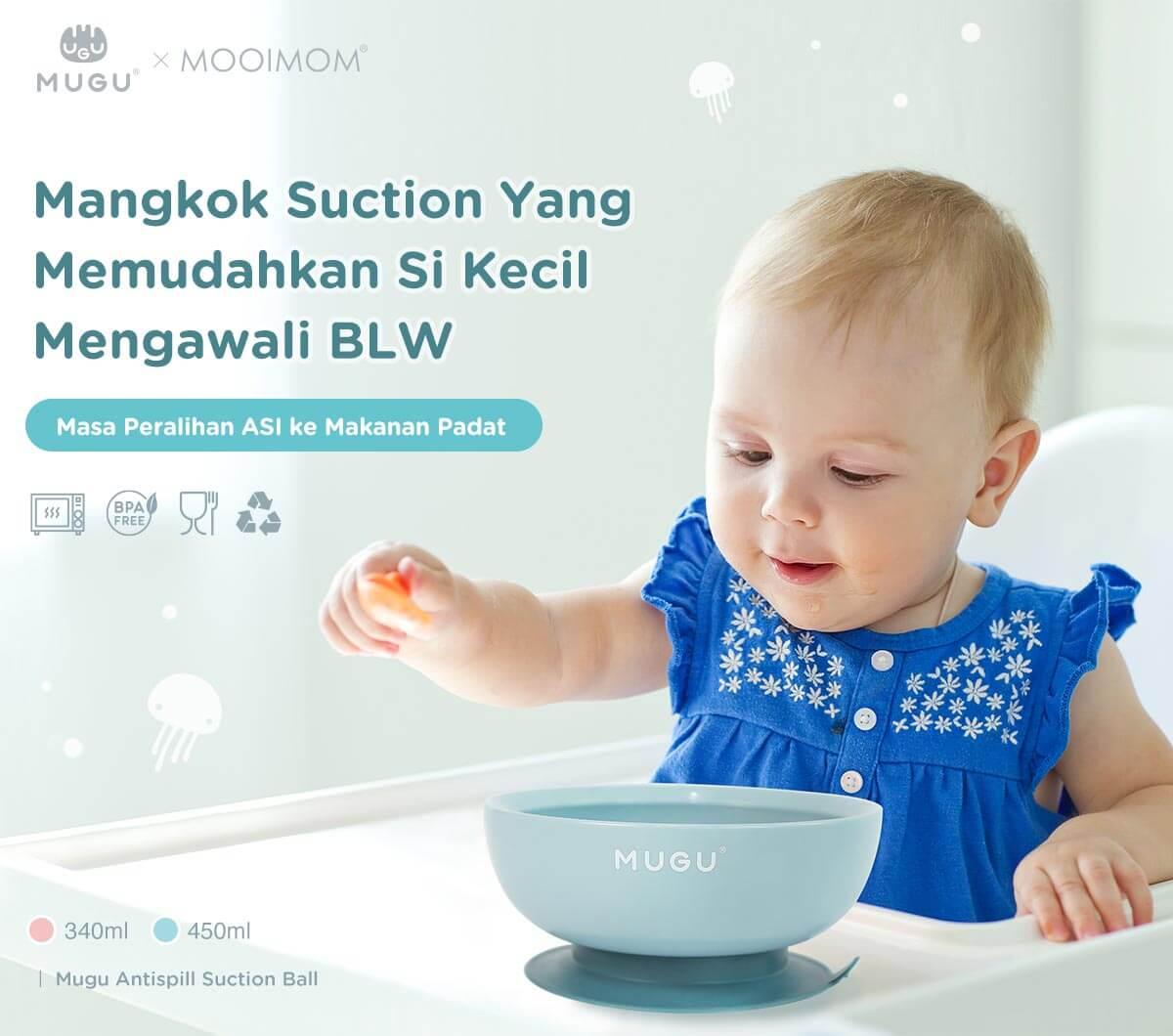 mangkok bayi anti tumbah merk mugu