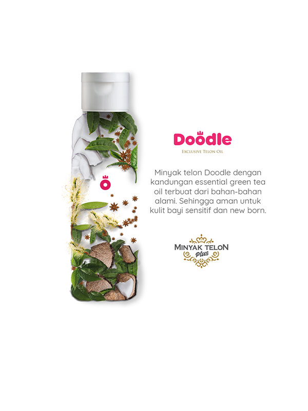 one gallery picture for [DOODLE] Exclusive Telon Oil Greentea 100 Ml | Minyak Telon