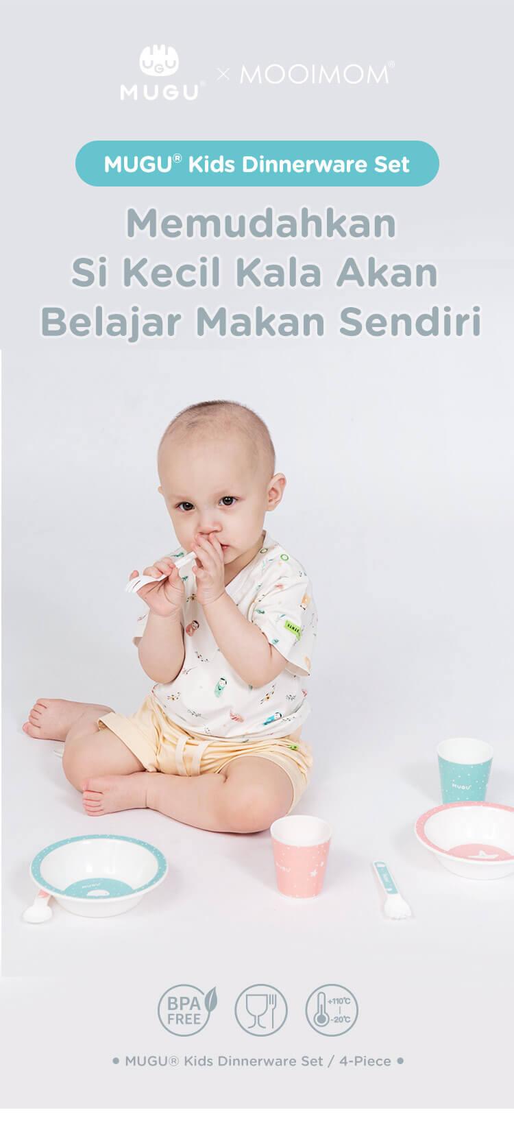 alat makan bayi set merk mugu