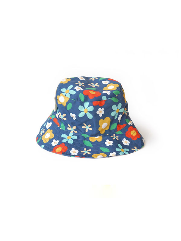 gallery picture of MAMAKARTI Bucket Hat Blue Flower - Topi Moms