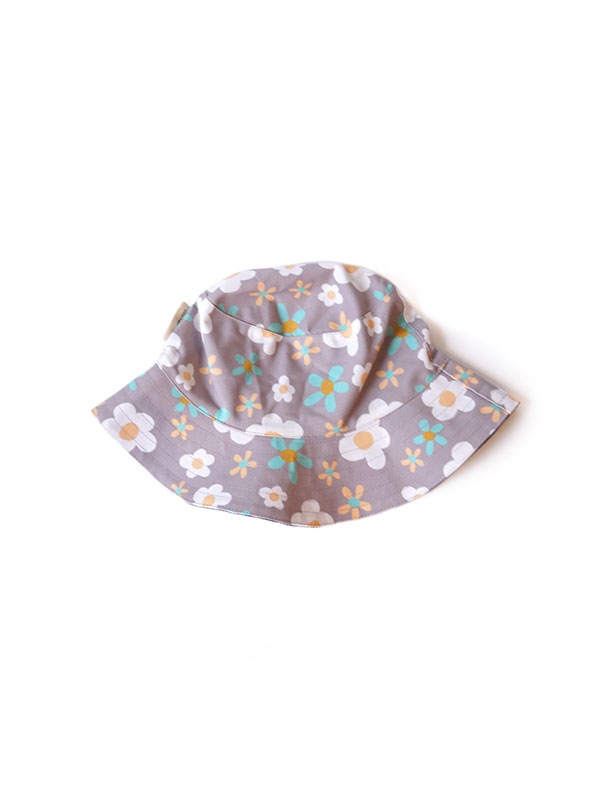 one gallery picture for MAMAKARTI Bucket Hat Grey Flower - Topi Moms