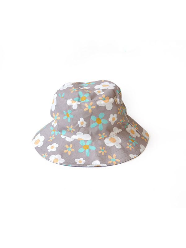 main mobile picture for MAMAKARTI Bucket Hat Grey Flower - Topi Moms