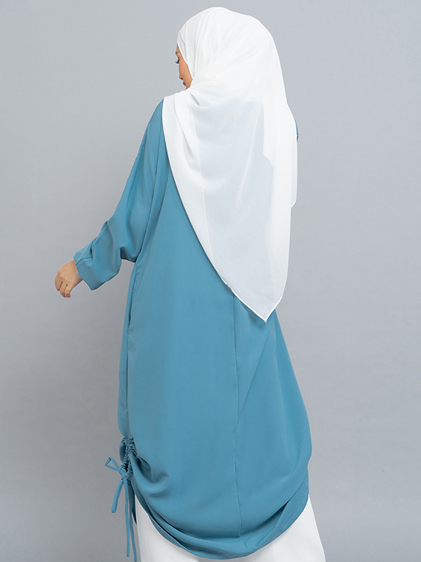 one gallery picture for MOOIMOM Gamis Dress with drawstring Blue