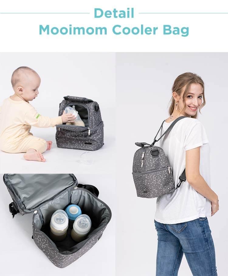 detail mooiomom cooler bag
