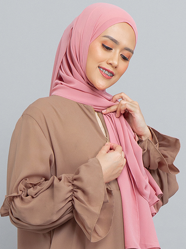 one gallery picture for MOOIMOM Basic Gamis with Ruffles Sleeve Cappucino