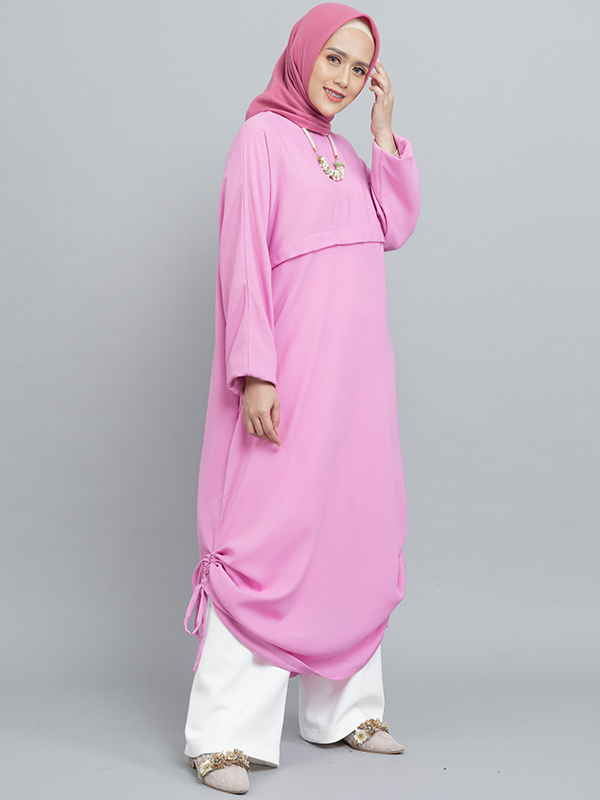 one gallery picture for MOOIMOM Gamis Dress with drawstring Pink