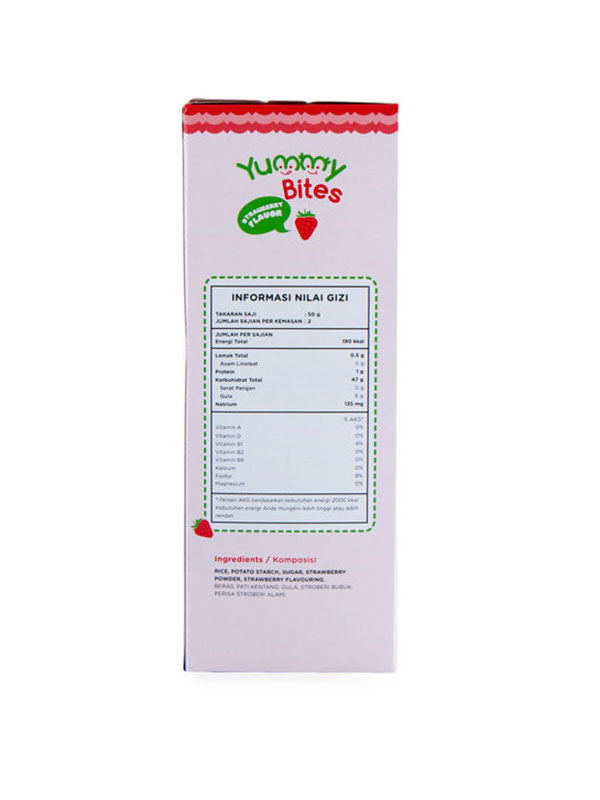one gallery picture for YUMMY BITES Crackers Strawberry 50gr