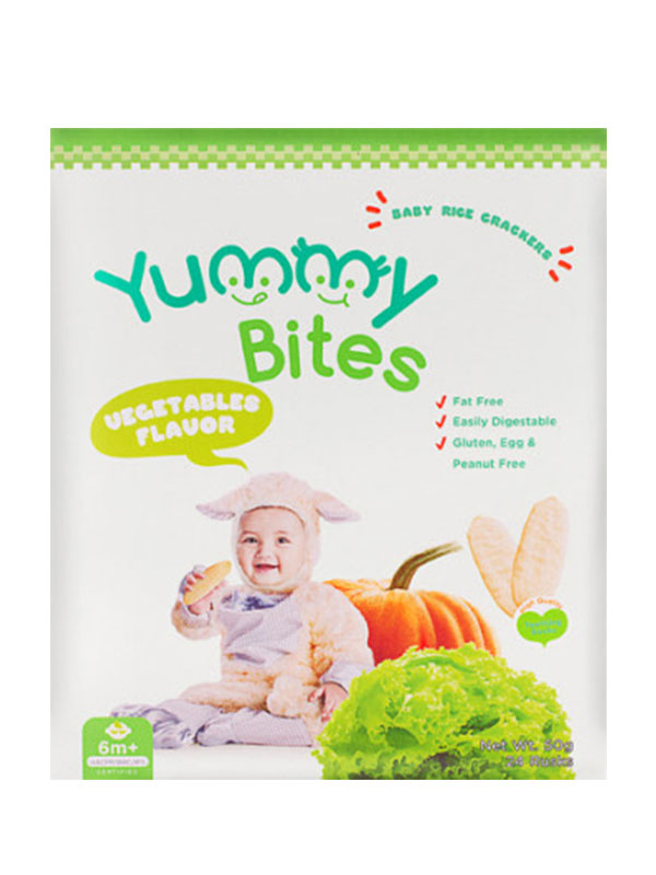 one gallery picture for YUMMY BITES Crackers Vegetable 50gr