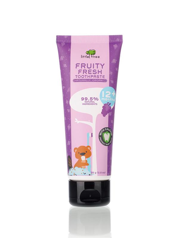 Little Tree Fruity Fresh Toothpaste_12+months 70g(Grape) Pasta Gigi Organik Anak Bayi