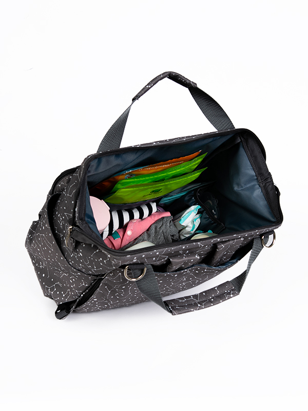 one gallery picture for MOOIMOM Fashionable Diaper Bag Dark Grey